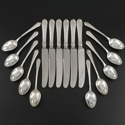 "Towle ""Lady Diana"" Sterling Silver Dinner Knives and Teaspoons, Mid-20th Century"