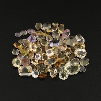 Loose 45.09 CTW Gemstone Selection Including Citrine, Amethyst, and Tourmaline