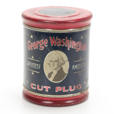 George Washington R.J. Reynolds Tobacco Co. Tobacco Tin, Antique