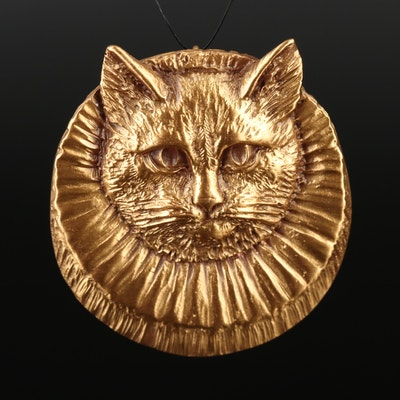 Mark Twain House Cat Converter Brooch