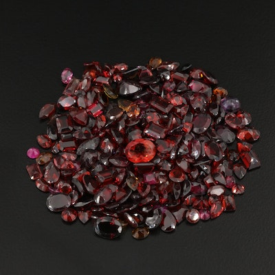 Loose 163.05 CTW Faceted Gemstone Selection Featuring Garnet and Tourmaline