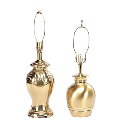 Brass Table Lamps. Mid to Late-20th Century