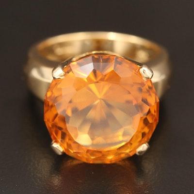 14K 12.50 CT Citrine Ring