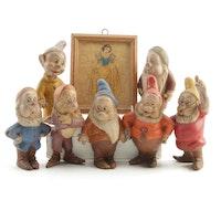 "Seiberling Walt Disney ""Snow White and the Seven Dwarfs"" Latex Figurines, 1938"
