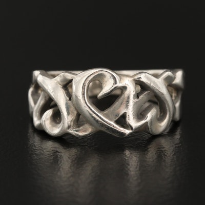 """Paloma Picasso for Tiffany & Co. """"Loving Heart"""" Sterling Silver Ring"""