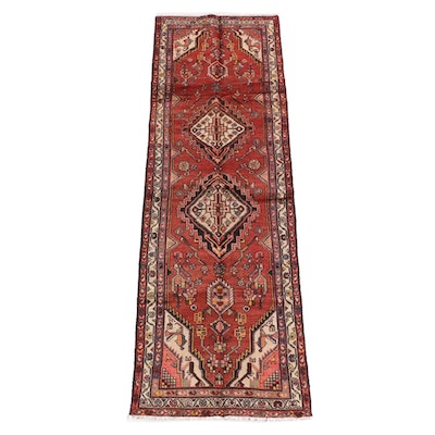 3'3 x 10'0 Hand-Knotted Persian Yalameh Wool Long Rug