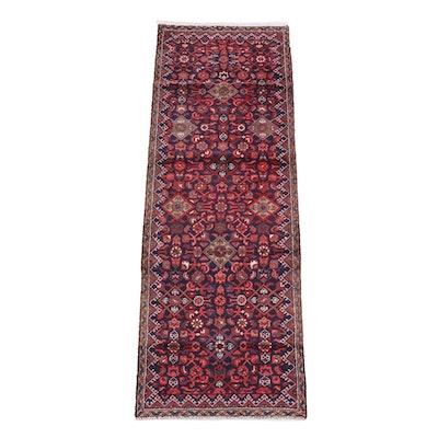 2'6 x 7'5 Hand-Knotted Persian Hamadan Wool Carpet Runner