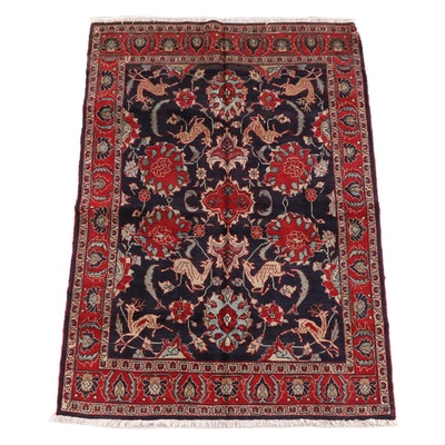 4'7 x 6'9 Hand-Knotted Persian Tabriz Wool Rug