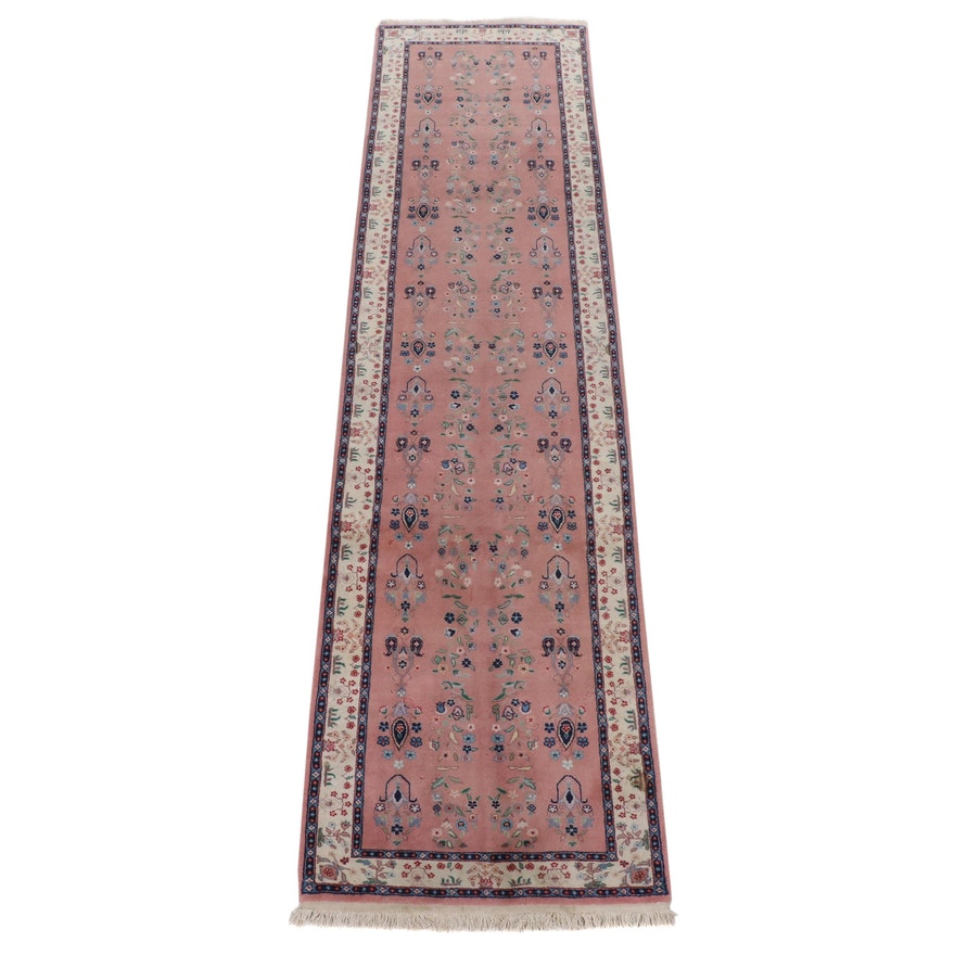 2'6 x 10'5 Hand-Knotted Sino-Persian Tabriz Runner Rug, 2000s