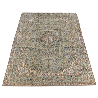 8'11 x 13'7 Hand-Knotted Persian Kerman Wool Rug