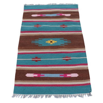 3'2 x 5'6 Handwoven Indo-Turkish Kilim Rug, 2000s