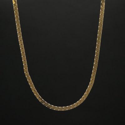 14K Cobra Link Necklace