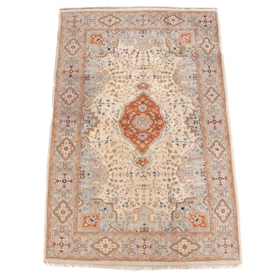 4'11 x 7'11 Hand-Knotted Persian Wool Rug