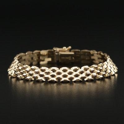 14K Panther Link Bracelet
