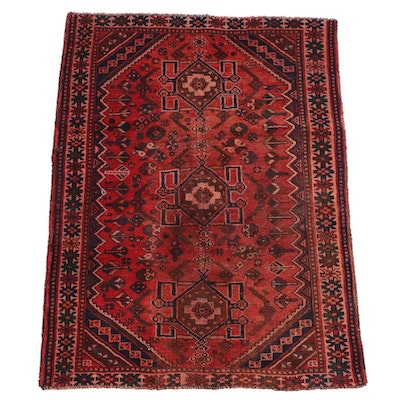 3'11 x 5'2 Hand-Knotted Persian Yalameh Wool Rug