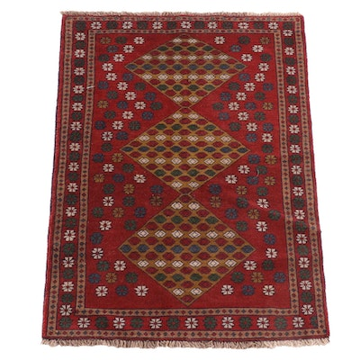 4'1 x 5'7 Hand-Knotted Caucasian Shirvan Wool Rug