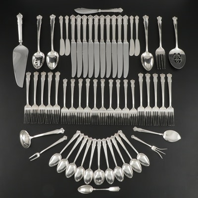 "Lunt ""English Shell"" Sterling Silver Flatware, Mid to Late 20th Century"