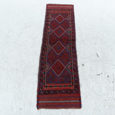 2'0 x 8'3 Hand-Knotted Afghani Turkoman Runner Rug, 2000s