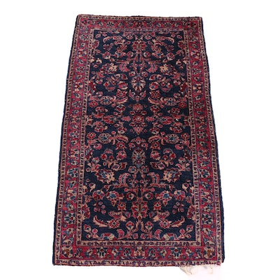 2'3 x 4'1 Hand-Knotted Persian Sarouk Wool Rug