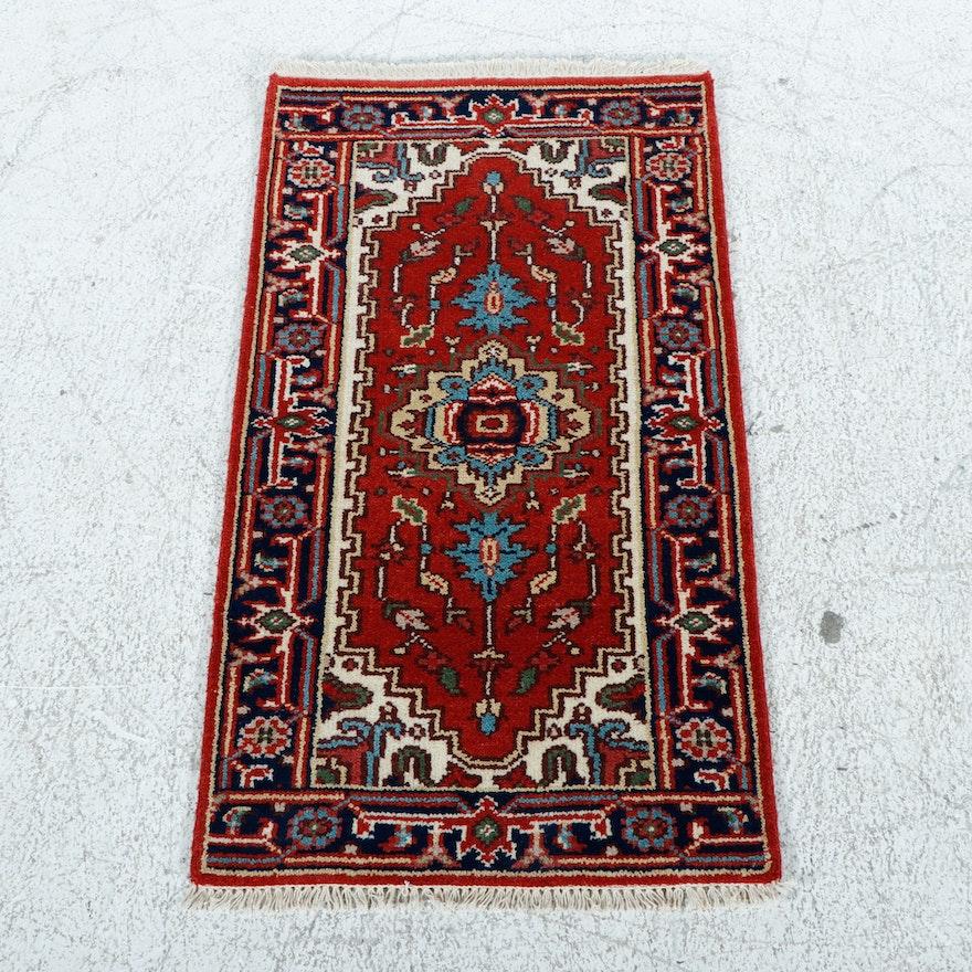 2'2 x 4'3 Hand-Knotted Indo-Persian Heriz Serapi Rug, 2010s