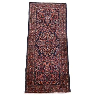 2'9 x 6'5 Hand-Knotted Persian Sarouk Wool Rug