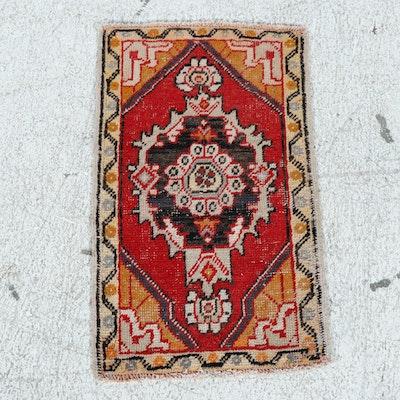 1'9 x 3'0 Hand-Knotted Turkish Village Rug, 1930s