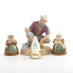 Royal Doulton and Royal Worcester Porcelain Shakers and Figurines