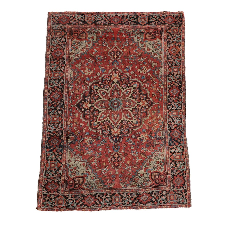 3'4 x 4'11 Hand-Knotted Persian Heriz Wool Rug