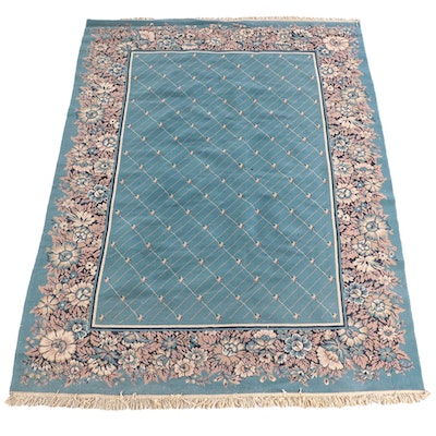 7'10 x 10'11 Machine Made Floral Wool Area Rug