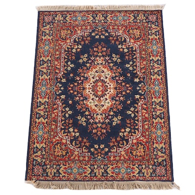 4'1 x 6'0 Machine Made Floral Wool Area Rug