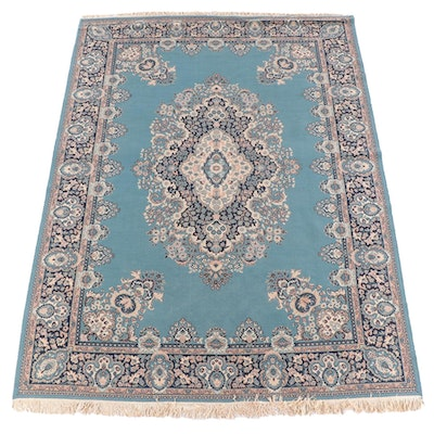 7'9 x 11'2 Machine Made Wool Floral Area Rug