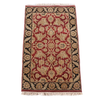 3'0 x 5'6 Hand-Knotted Indian Mahal Wool Rug