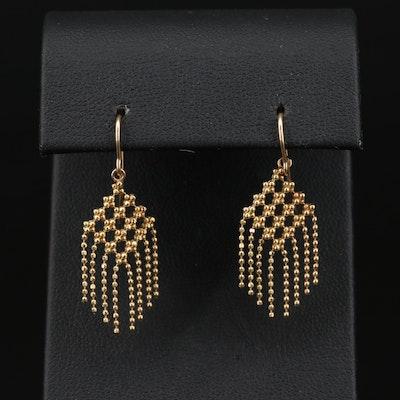 Tiffany & Co. 18K Bead Chain Fringe Earrings