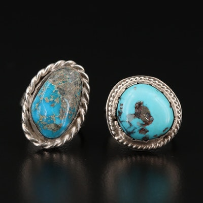 Sterling Silver Western Style Turquoise Rings