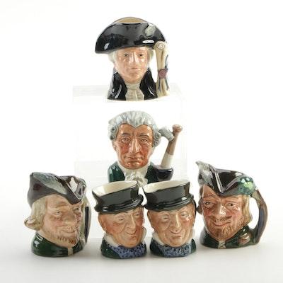 "Miniature Royal Doulton ""George Washington"", ""Robin Hood"", and Other Mugs"