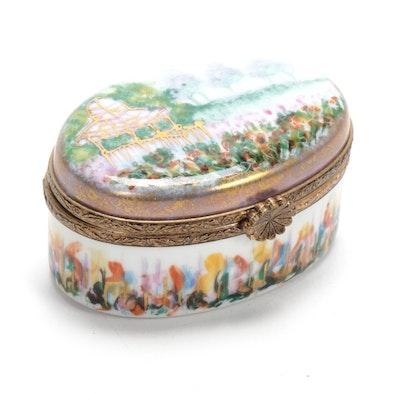 La Gloriette Hand-Painted Porcelain Landscape Limoges Box