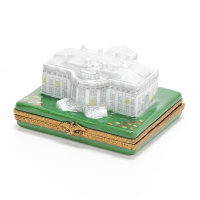 """Limited Edition """"White House"""" Signed, Numbered and Hand-Painted Limoges Box"""