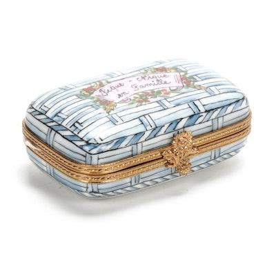 """La Gloriette """"Pique-Nique en Famille"""" Hand-Painted Porcelain Limoges Box"""