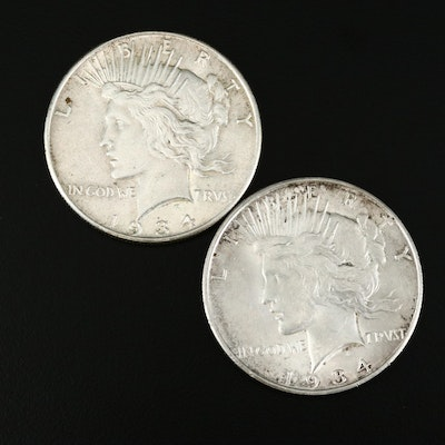 1934 and 1934-D Peace Silver Dollars