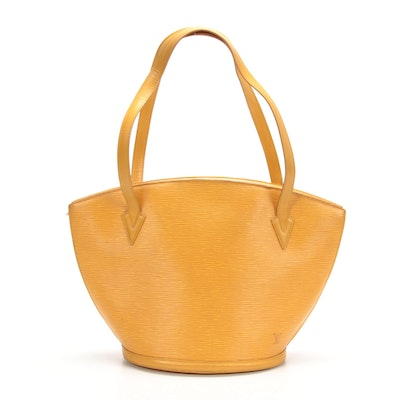 Louis Vuitton Saint Jacques Shoulder Bag in Yellow Epi Leather