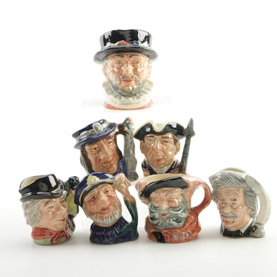 "Royal Doulton ""Mark Twain"", ""The Walrus & Carpenter"", and Other Character Mugs"