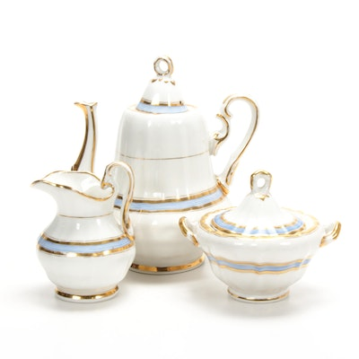 Old Paris Style Hand-Painted Porcelain Coffee Set