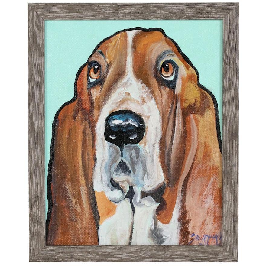Marc Broadway Acrylic Portrait of Dog
