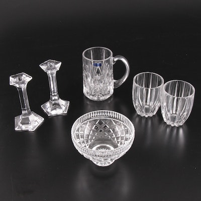 Marquis by Waterford and Riedel Tumblers, Candlesticks and Other Tableware