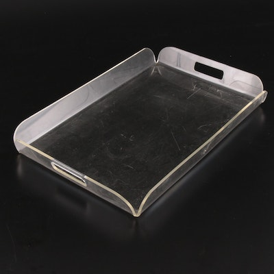 Mid-Century Lucite Tray with Open Handles