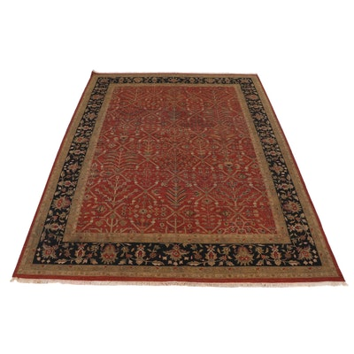 10'0 x 14'2 Handwoven Sino-Persian Tabriz Soumak Room Sized Rug, 2000s