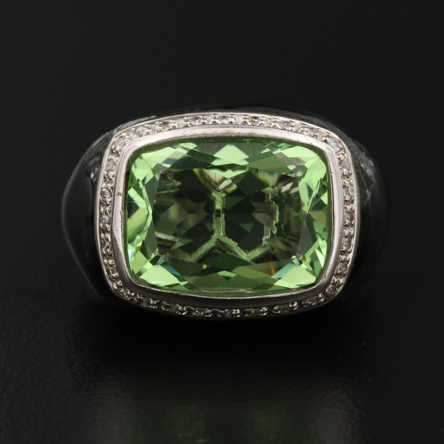 Sterling Cubic Zirconia and Resin Ring