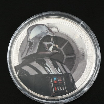 2017 Niue 2-Dollar Colorized Darth Vader Commemorative 1-Oz. Silver Coin