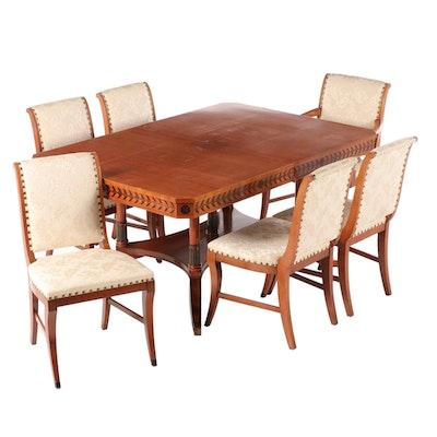 Grand Rapids Regency Style Mahogany Dining Set, Mid-20th Century