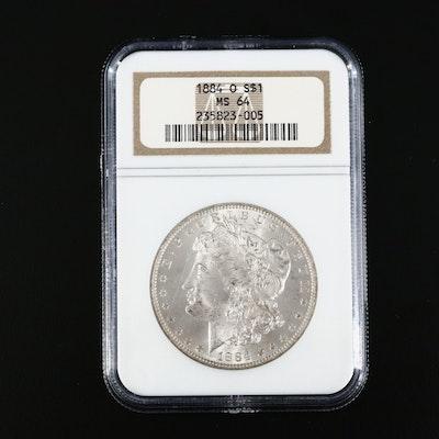 NGC Graded MS64 1884-O Morgan Silver Dollar